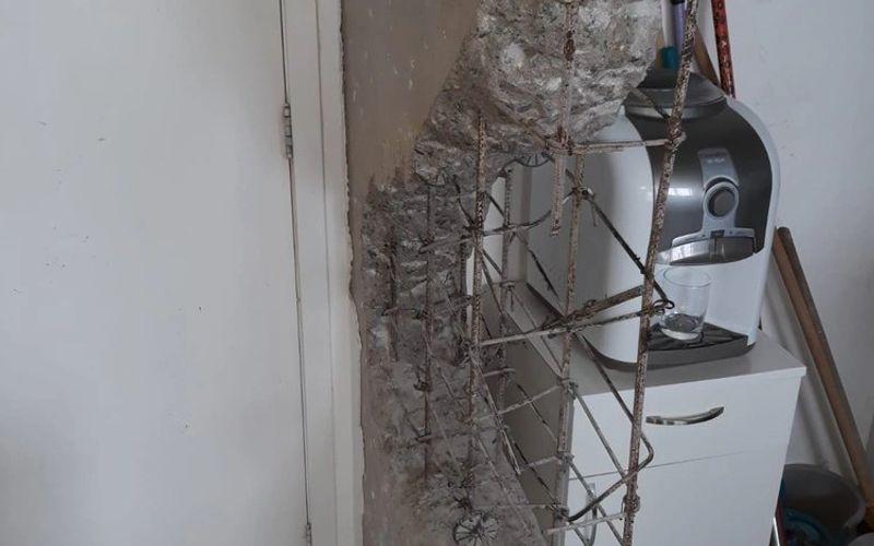 Obra em cozinha de apartamento danifica estrutura e prédio é evacuado pela Defesa Civil