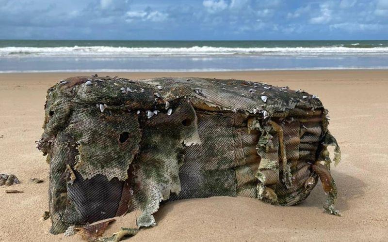 Fardos encontrados no litoral de Coruripe