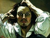 O Desesperado, pintura de Gustave Courbet (França,1819-1877).