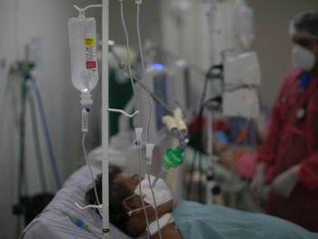 Paciente internado com Covid-19