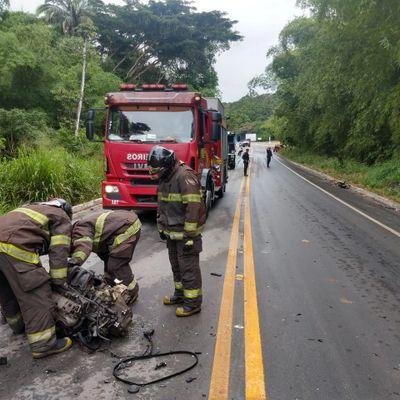 Acidente aconteceu na estrada de acesso à Utinga Leão.