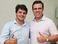 Pré-candidatos a deputado estadual e deputado federal, respectivamente, Breno Albuquerque (PRTB ) e Maykon Beltrão (PSD)