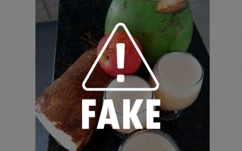 É falso que suco de inhame com água de coco e maçã cure o coronavírus