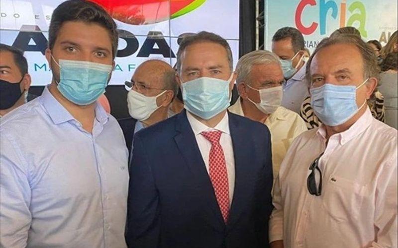 O prefeito de Traipu, Lucas Santos, e o governador de Alagoas, Renan Filho.