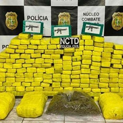 Alagoano e paulista foram presos com 157 kg de drogas no Ceará