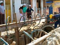 Obras de saneamento