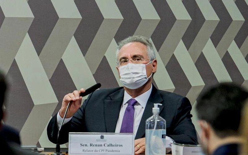 Senador Renan Calheiros, relator da CPI