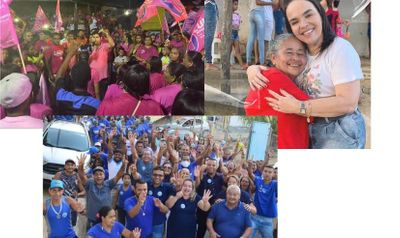 O colorido; Rosa (Luh) vermelho (Márcia) e o azul (Vânia) toma conta da campanha municipal