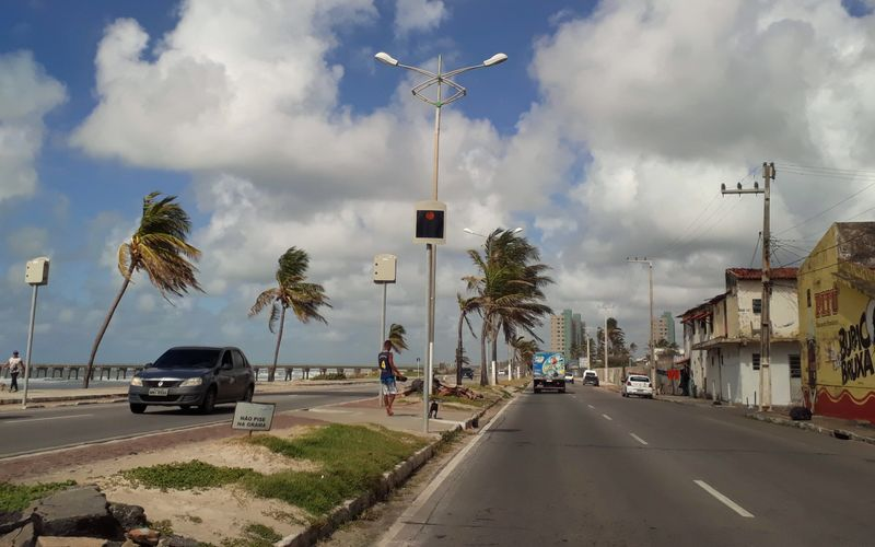 Avenida Assis Chateaubriand, na Praia da Avenida