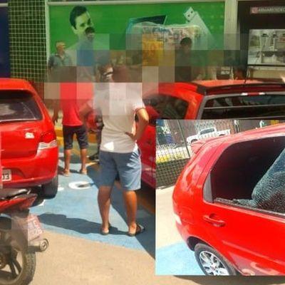 Populares quebram vidro para resgatar crianças esquecidas dentro de veículo em Alagoas
