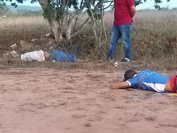 Três pessoas são alvos de atentado, duas morrem em chácara no município de Senador Rui Palmeira
